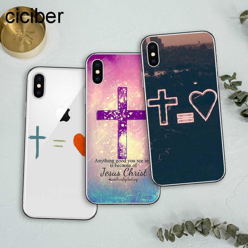Ciciber 聖書イエス · キリストソフトシリコン電話ケースカバー iphone 11 プロマックス 2019 XR X XS 最大 7 6 8 6s プラス 5S 、 SE クリスチャン