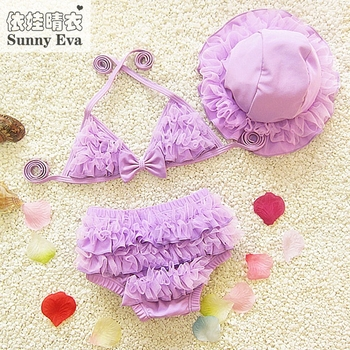 Sunny eva girl swimsuit swimming suit for kids girl bikinis two-piece dress for bath girls swimming clothes childrens swimwear