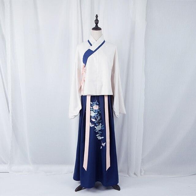 2016 зима хан и тан женская поезд hanfu китайский стиль костюм невесты свадебное одежда китайский древний костюм