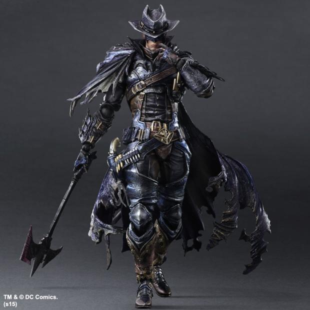 Play Arts Timeless Sparta Timeless Wildwest Batman Action Figures DC Collectible Toys 25cm