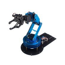 Industrial 6DOF Robot Arduino Servo Arm Unassembled Remote Control Educational RC Parts Robot dominbot diy 4dof for arduino acrylic rc robot arm gripper educational kit with mg90s servos