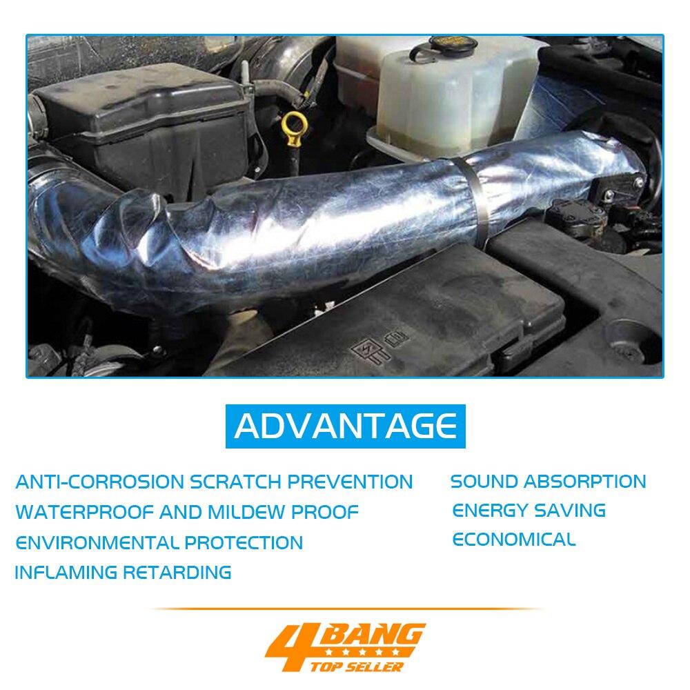 4 pièces 50CM * 300CM Feuille D'aluminium Bouclier D'isolation Thermique ignifuge D'absorption Acoustique barrière radiante d'absorption de chaleur