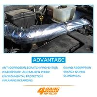 4PCS 50CM*300CM Aluminium Foil Shield Heat Insulation inflaming retarding Sound Absorption radiant barrier heat absorption