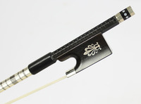 TOP Model Silver Braided Carbon Fiber 4/4 Violin Bow NEW
