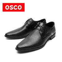 OSCO Factory Direct Soft Genuine Leather Fashion Style Breathable All Season Men Casual Oxford Shoes RU0003
