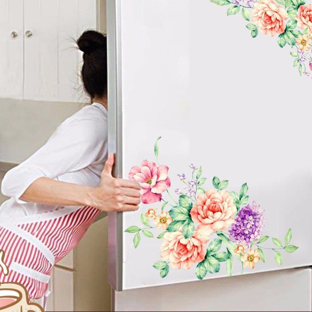 LARGE Luxury Peony Flower Tree Wall Sticker Mural WallPaper Girls Room Decor