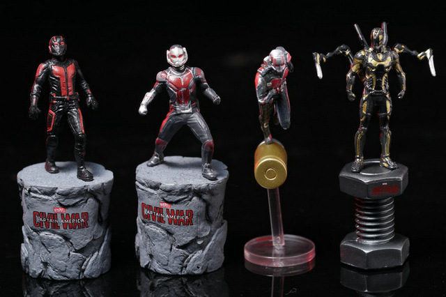 Hot Mini Bonito Marvel Avengers Action Figure Modelo Toy Filme Antman o Homem Formiga PVC Toy Boneca figura Super Hero Toy Figura Colecção