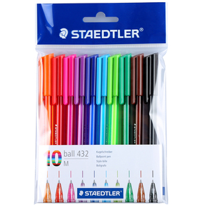 "Image 1 - STAEDTLER 10 עט צבע כדור עט כדורי 0.7 מ""מ מ ציין"