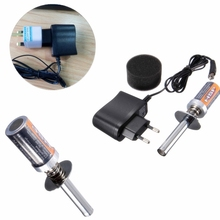 HSP RC Nitro 1.2 V 1800MAH RECHARGEABLE GLOW PLUG starter Igniter AC Charger for Gas Nitro Engine Power 1/10 1/8 RC Car