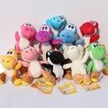 "10Pcs/Lot 4""10cm Super Mario Bros Yoshi Plush Toys Stuffed Soft Dolls With Keychains 10 Colors Free Shipping"