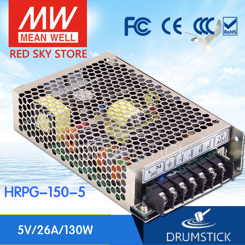 best-selling MEAN WELL HRPG-150-5 5V 26A meanwell HRPG-150 5V 130W Single Output with PFC Function  Power Supply advantages mean well hrpg 200 24 24v 8 4a meanwell hrpg 200 24v 201 6w single output with pfc function power supply [real1]