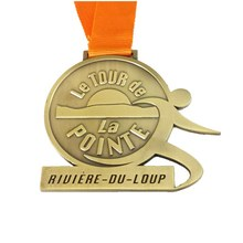 Manufacturer custom metal medal hot sale sports running with ribbon