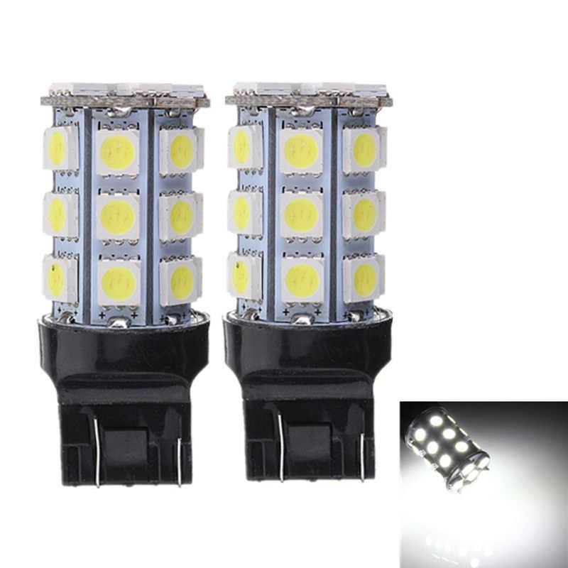 2 Chiếc Tự Động Đèn Led T20 W21/5 W 7443 5050 27 SMD Trắng Đỏ W3x16q 12V đèn Trước Đuôi Đèn Biến Phanh DRL Sương Mù.