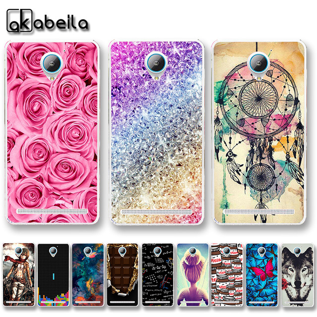 AKABEILA Soft TPU Plastic Phone Cases For Lenovo Vibe C2 K10A40 C2 Power 5.0 inch Covers Nutella Flamingo Tetris Bags Back Shell