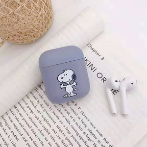 Image 4 - Bluetooth headset cover for apple airpods case peanuts Charlie dog wireless headphone cute Puppy silicone cover for airpods
