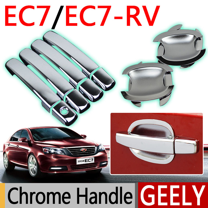 Prix pour Pour Geely Emgrand EC7 Accessoires Chrome Porte Poignée EC715 EC718 EC7-RV 2009 2010 2011 2012 2013 2014 2015 Autocollants De Voiture-style