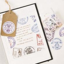 45 pcs/pack Cute Travel postmark paper sticker DIY diary album decoration stickers scrapbooking planner label Scrapbook