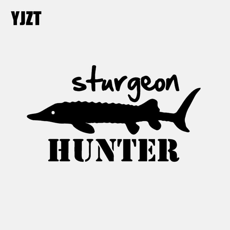 Sturgeon hunter sticker fishing lead bait fish hooks lure net boat new decal