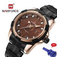 NAVIFORCE 9079 Watches Men Full Steel Army Military Watches Men S Quartz Hour Clock Watch Sports