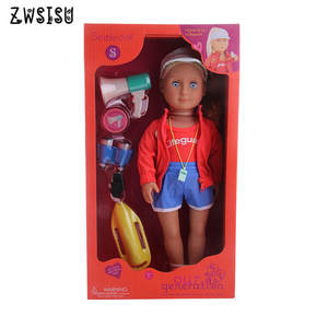 American Doll Generation-Toy Include-The-Doll 18inch for Gift E-Packet Realistic 11pcs/Set