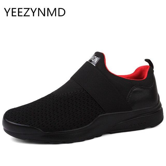 955385f2c5 Homens Malha respirável Sapatos Casuais Primavera Outono Homem Sapatos  Leves Confortáveis Slip-on Non-