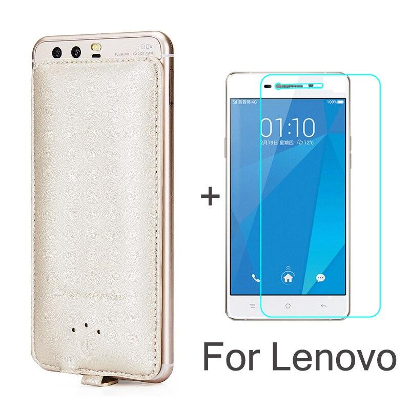 Батарея случае Зарядное устройство 4000 мАч Мощность Bank резервного копирования для Lenovo <font><b>zuk</b></font> Z1 <font><b>Z2</b></font> Pro P70 K5 Note A536 6600 7700&#215;2 подарок закаленное Стекло