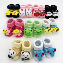Baby Newborn 0-18Month Anti Slip Cotton Lovely Cute Shoes Animal Cartoon Slippers Boots Boy Girl Unisex Skid Rubber Sole Socks