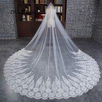 ZYLLGF Bridal Luxury Wedding Veils Wedding Bridal Veil Long bridal Veil 3 Meters Ivory Wedding Hair Veil With Crystals BV28