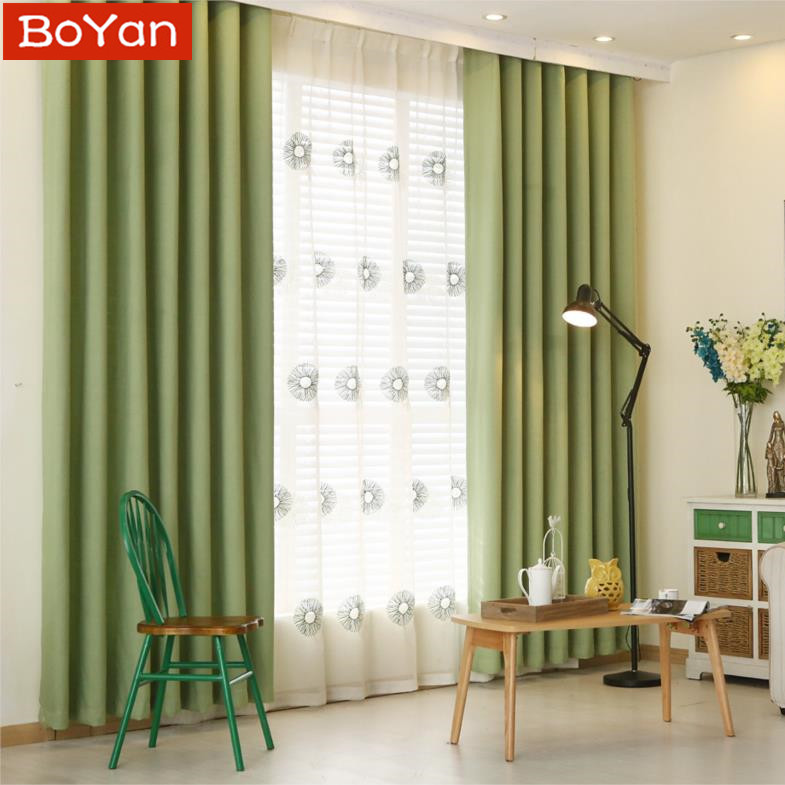 Latest 6 Colors Solid Blackout Curtains For Bedroom Faux