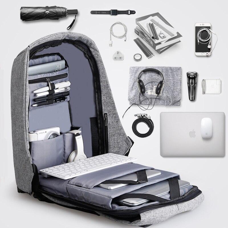 Multifunzione USB di ricarica Uomini 15 inch Laptop Zaini Per Adolescente Moda Maschile Sacchetto Mochila zaino Viaggi di Piacere Anti Furto
