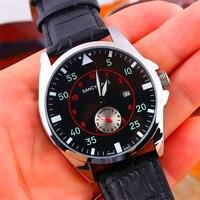 In Stock Sancybirds Men S Watches Top Brand Luxury Business Quartz Watch Men Sport Leather Wristwatch