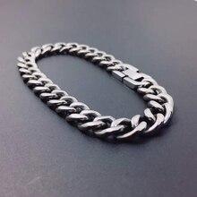 215 mm 99.9% pure titanium TA1 Hiphop chain bracelet men's personality casual anti-allergy bracelet trendy titanium bracelet цена 2017
