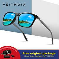 Бренд VEITHDIA 2019, унисекс, Ретро стиль, алюминий + TR90, солнцезащитные очки, поляризационные линзы, винтажные очки, аксессуары, солнцезащитные оч...