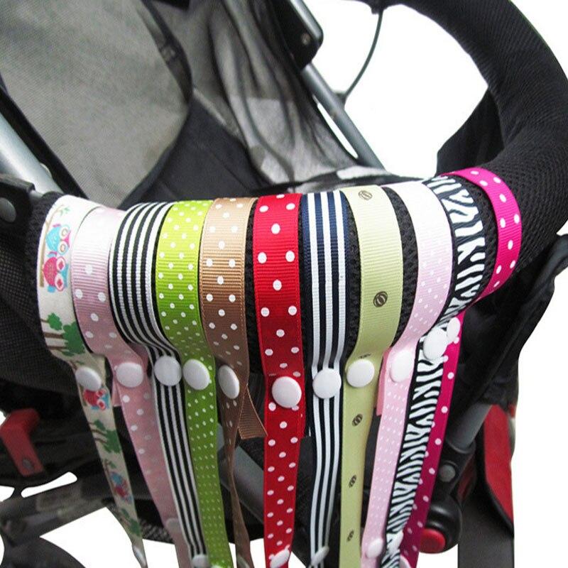 Accessoires poussette jouets anti-arrêt | Chaîne de sucette, accessoires poussette pour filles jouets avec sangle fixe, supports anti-chute pour bébé avec lanière, siège de voiture