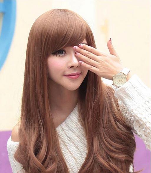 Lady Girl Woman Wig010 Long Hair Wigs Cap Peluca Peruca Curly
