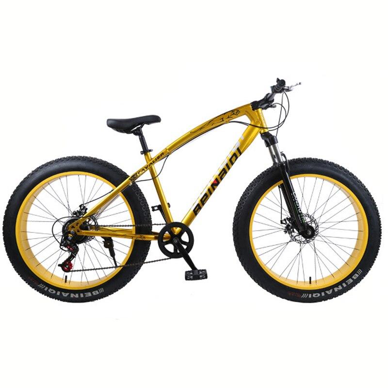 26 pouces vélo B 21 vitesses Cross-country VTT cadre en aluminium Snow Beach 4.0 vélos de vélo surdimensionnés pour hommes et femmes