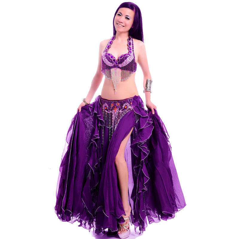 Лидер продаж, бесплатная доставка, новый дизайн, комплект для танца живота высшего качества, костюм, одежда для танца живота, юбка для танца ...