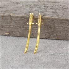 Jewelry-Findings-80100 Pendant Charm 70PC Gold-Plated Japanese European Bracelet Diy