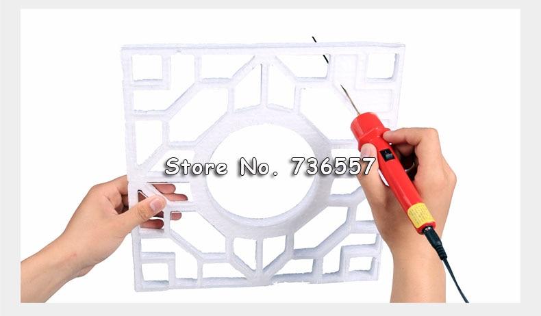 1Pc 10CM Craft Hot Knife Styrofoam Cutter Pen CUTS FOAM, KT Board Cutting +All Copper Electronic Voltage Transformer Adaptor