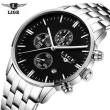 Mens Watches Top Brand Luxury LIGE Men Military Sport Luminous Wristwatch Chronograph Quartz Watch Man Clock relogio masculino