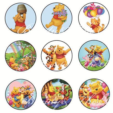 Winnie the pooh stickerscupcake toppersbirthday party decorations kids sticker label for birthdaybaby shower cand bar in party diy decorations from home