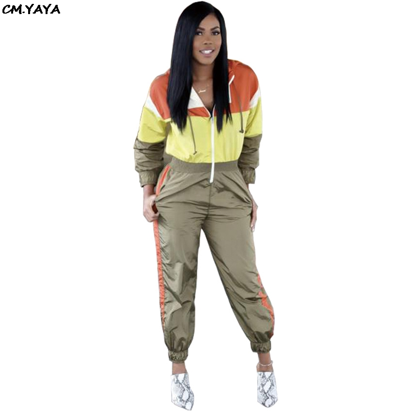 f26023418c9b Detail Feedback Questions about 2019 new women outfit hooded zip up long  sleeve spring fashion long jumpsuit safari style splicing romper playsuits  GLA3069 ...