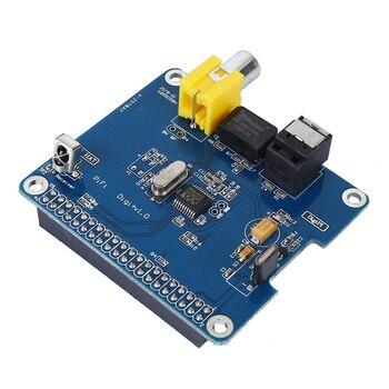 SC07 для Raspberry Pi HIFI DiGi + цифровой звуковой карты I2S Оптическое волокно SPDIF для Raspberry pi 3 2 Модель B +