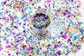 RA321-174 Mezclar Colores formas de Punto redondo Del Brillo para el arte del clavo, gel de uñas, maquillaje y la decoración de DIY