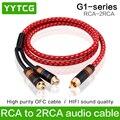 Аудиокабель YYTCG  Hi-Fi  RCA  гнездовой разъем для 2RCA  Штекерный штекер  адаптер  аудиокабель M/2F