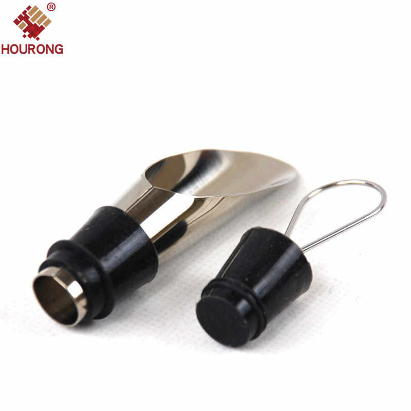 HOURONG 1 PC Stainless Steel Red Wine Aerator Pourer For Bar Accessories Dripless Funnel Liquor  Bottle Pourers