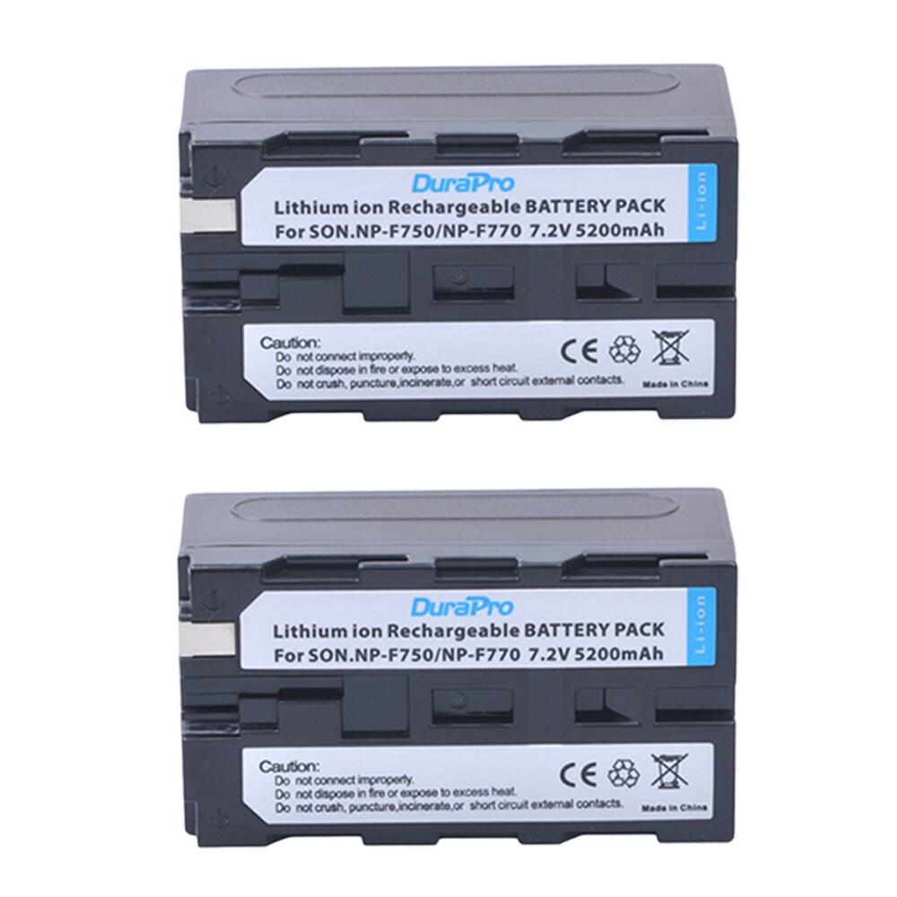 2pc 7.2V 5200mAH NP-F750 NP-F770 NP F750 NP F770 Li-ion Battery for Sony ccd-tr917 ccd-tr940 ccd-trv101 ccd-trv215 ccd-trv25