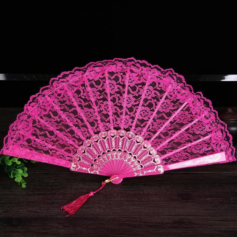 Damen Klappspitze Hand Fan Großhandel Personalisierte Fans der Alten - Wohnkultur - Foto 2