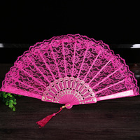 Ladies Folding Lace Hand Fan Wholesale Personalized Fans of Old Wedding Decor For Home Decoration Ornament Dance Accessories 11