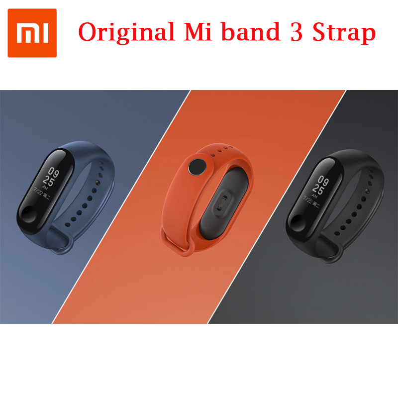 Original Xiaomi <font><b>Mi</b></font> <font><b>band</b></font> <font><b>4</b></font> <font><b>3</b></font> Colorful <font><b>Silicone</b></font> Wrist <font><b>Strap</b></font> <font><b>Bracelet</b></font> Replacement for Xiaomi Miband <font><b>3</b></font> / <font><b>4</b></font> <font><b>Wristbands</b></font> Accessories image